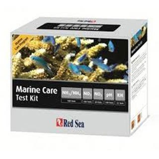 testes red sea marine care test kit  nh3-nh4/no2/no3/ph-alk