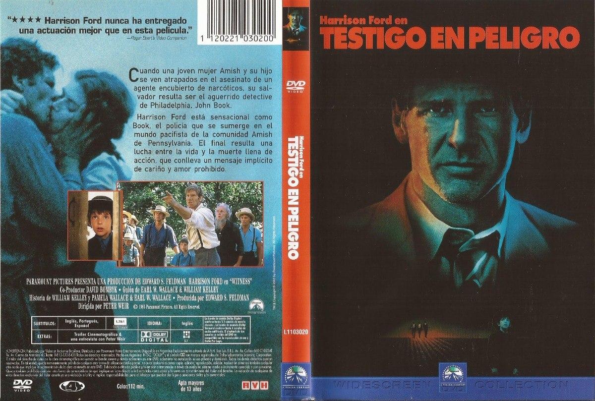Testigo En Peligro Dvd Harrison Ford Kelly Mcgillis Witness - $ 200,00