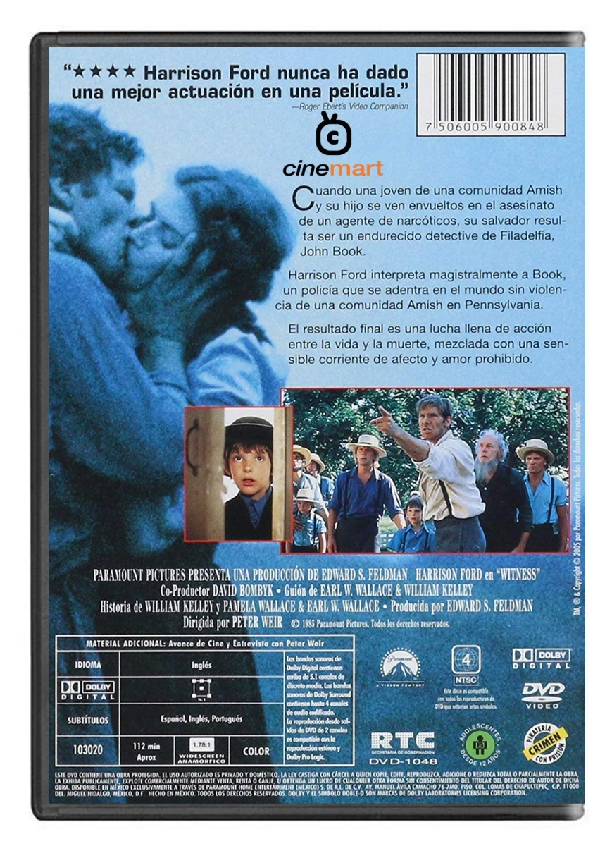 Testigo En Peligro Harrison Ford Pelicula Dvd
