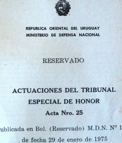 testimonio de traición actas juzgamientos militares seregni