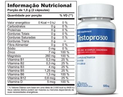 testopro (60 cáps) - complexo ativador original e lacrado
