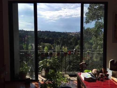 tetelpan, excelente departamento, vista espectacular a rancho san francisco.