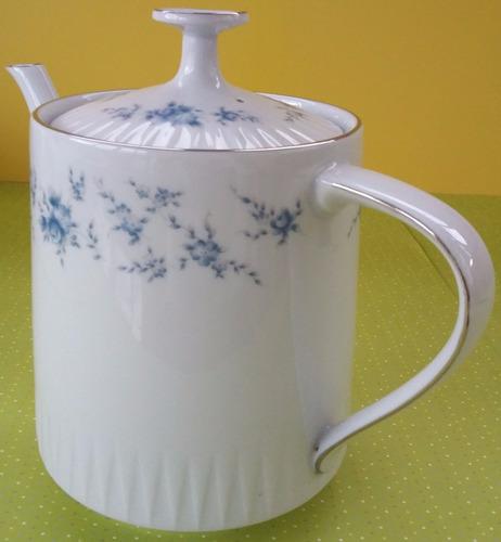 tetera de porcelana tsuji bouquet shabby plata- palermo