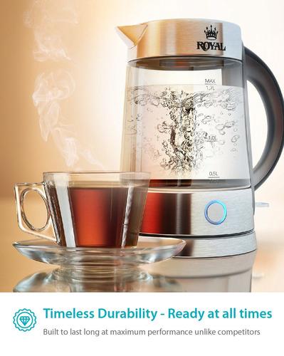 tetera electrica de vidrio 1,7 lts zeppoli zpl-kettle-a