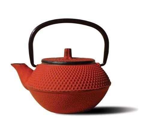tetera old dutch cast iron tokyo, 11 onzas, roja