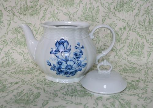 tetera porcelana verbano vanna bouquet azul