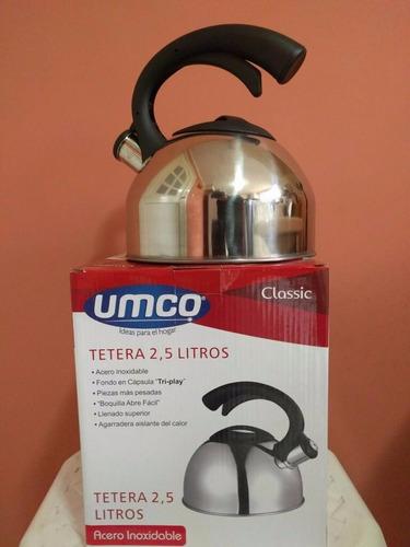 teteras umco ideales para cocinas a gas e inducción