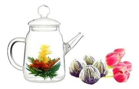 teteras,tea beyond fab duo jazmín floración juego de té..