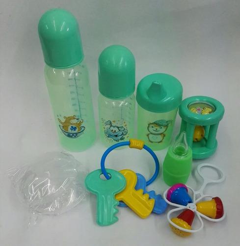 tetero alcancía con accesorios para bebe