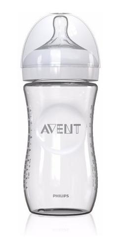 tetero avent de cristal / vidrio natural 8 oz