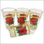Juego De 4 Vasos De Flor Navideña 8x13cm 12 Onzas Navidad