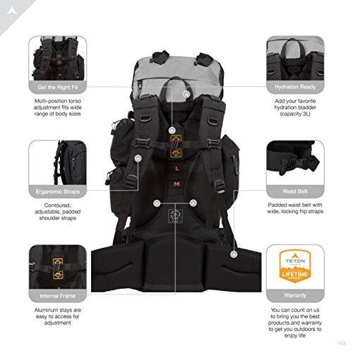 teton sports explorer 4000 mochila con estructura interior;