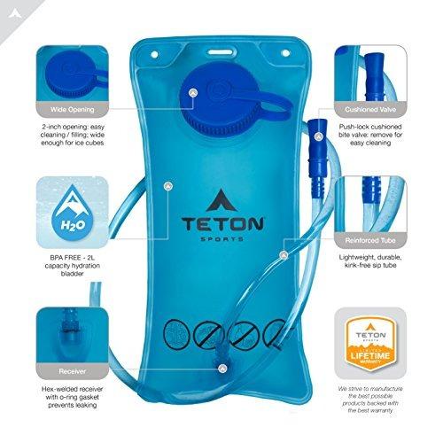 teton sports oasis 1100 mochila de hidratación de 2 litros,