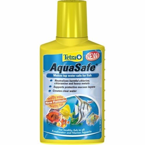 tetra aquasafe 50 ml - condicionador de agua para aquarios
