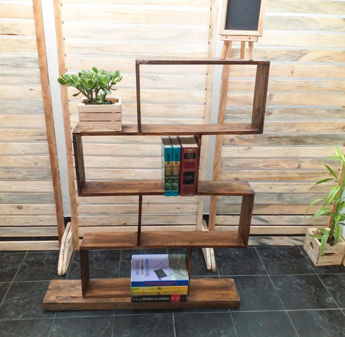 tetra biblioteca, libros, madera, vintage, pino, paleta