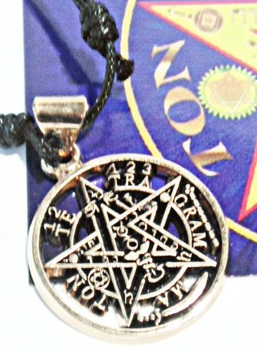 tetragramaton o pentagrama  chapa de oro ritualizado 5 elemt