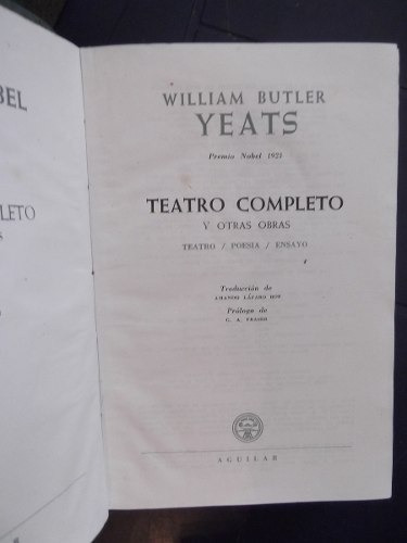 tetro completo william butler yeats papel biblia