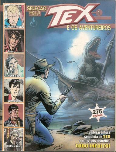tex e os aventureiros nº 1 - seleção bonelli comics