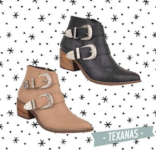 texana mujer bota botineta