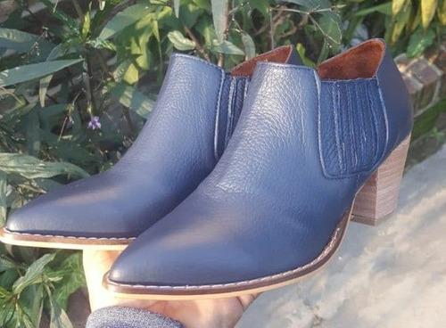 texanas botas botinetas cortas de cuero vacuno 100%