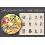 Diseños Vectores Serigrafia Transfer Polos /cartoon Infantil