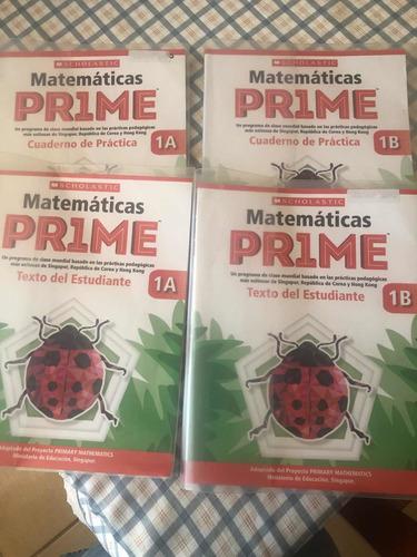 texto matemática prime 1a1b método singapur