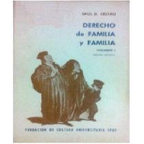 Derecho De Familia Y Familia Volumen 1 - Saúl Cestau