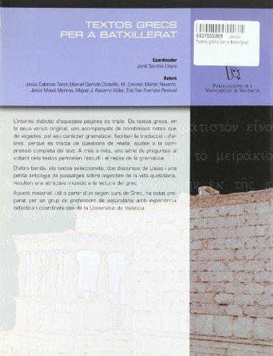 textos grecs per a batxillerat jordi sanchís ll envío gratis