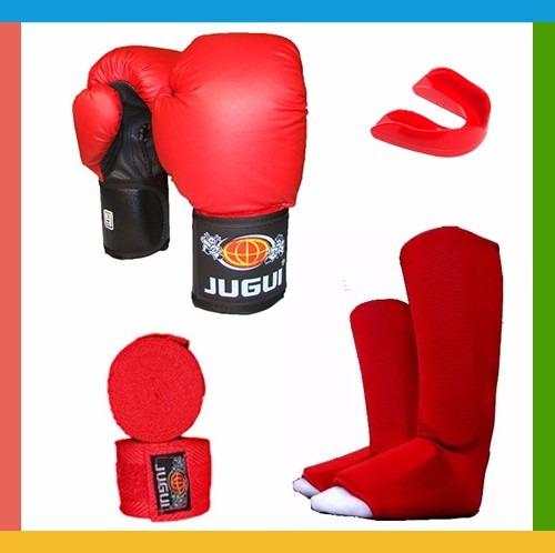 Aparador Muay Thai Jugui ~ Kit Muay Thai Masculino Luva Caneleira Bandagem Bucal Azul R$ 179,99 em Mercado Livre