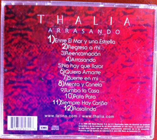 thalia. arrasando. cd original, como nuevo