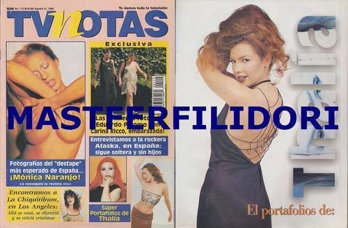 thalia monica naranjo revista tvnotas agosto 1998
