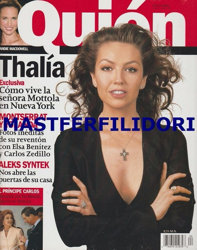thalia revista quien de abril 2002