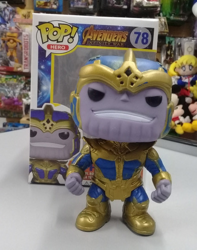 thanos, avengers, infinity war. simil funko pop. 2 versiones