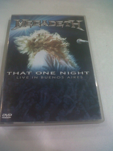 that one night: live in buenos aires, megadeth dvd 2007 mint