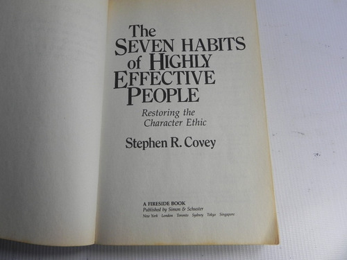 the 7 habits of highly effective people s. covey