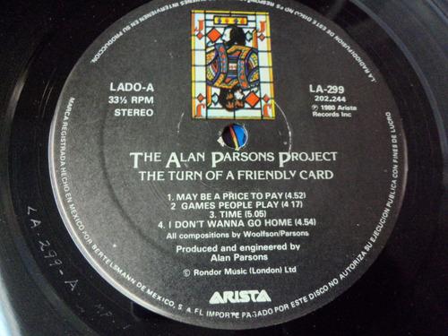 the alan parsons project lp de 12  de 33rpm. the turn of a f