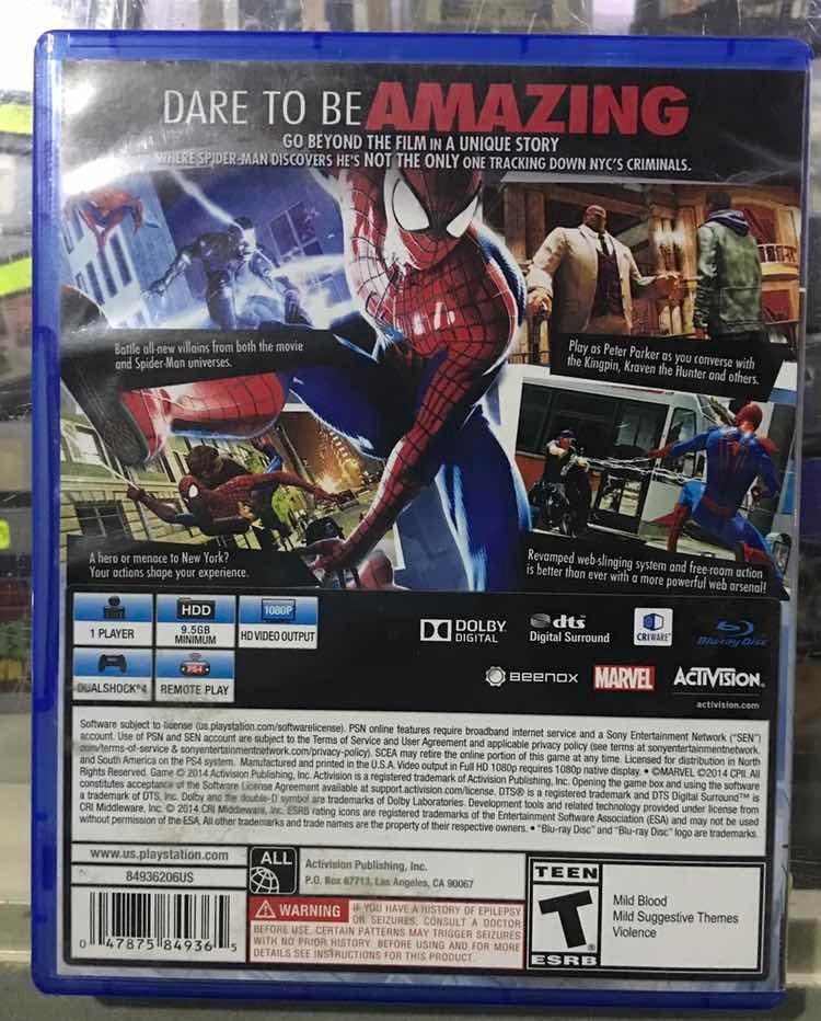 The Amazing Spider Man 2 Ps4 Envió Gratis Por Dhl - $ 700 00