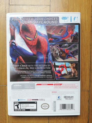 the amazing spider-man juego wii