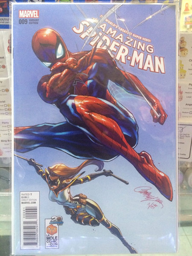 the amazing spiderman #9 portada variante de la mole