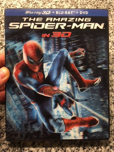 the amazing spiderman : blu ray 3d +2d+dvd -cover lenticular