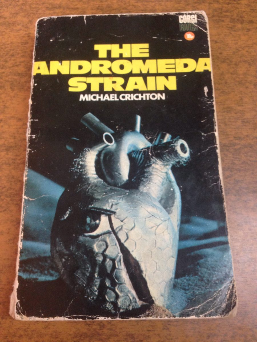 the andromeda strain michael crichton essay Notes on sources used - a first edition copy of the book was used for all  the  andromeda strain is michael crichton's story of man's intrusion into space gone.