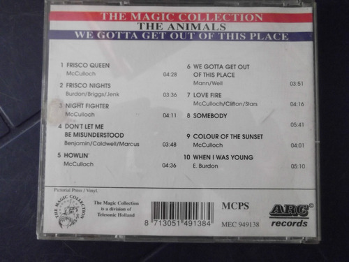 the animals we gotta get our of this place cd original