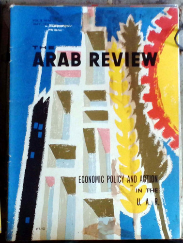 the arab review  - cairo - jul 1961 72p muy buen estado