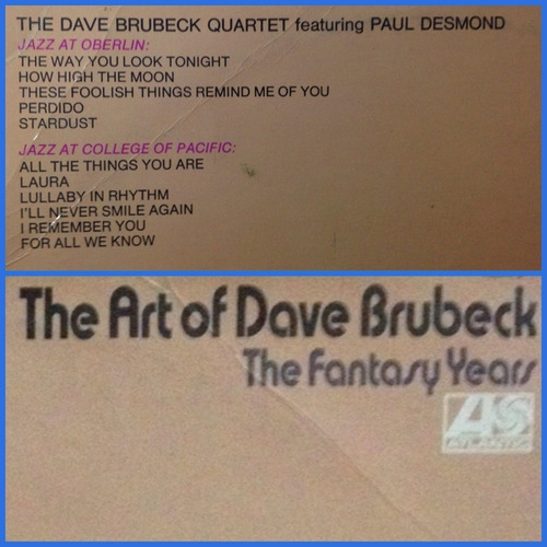 the art of dave brubeck, the fantasy years, 2 lps en vivo