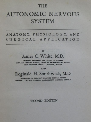 the autonomic nervous system - white / smithwick