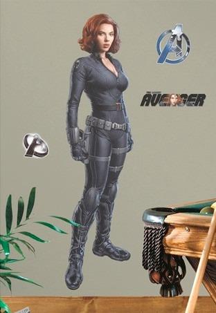 the avengers black widow viuda negra poster autoadhesivo