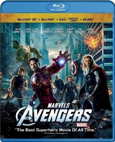 the avengers combo pack bluray 3d, bluray, dvd, digital copy