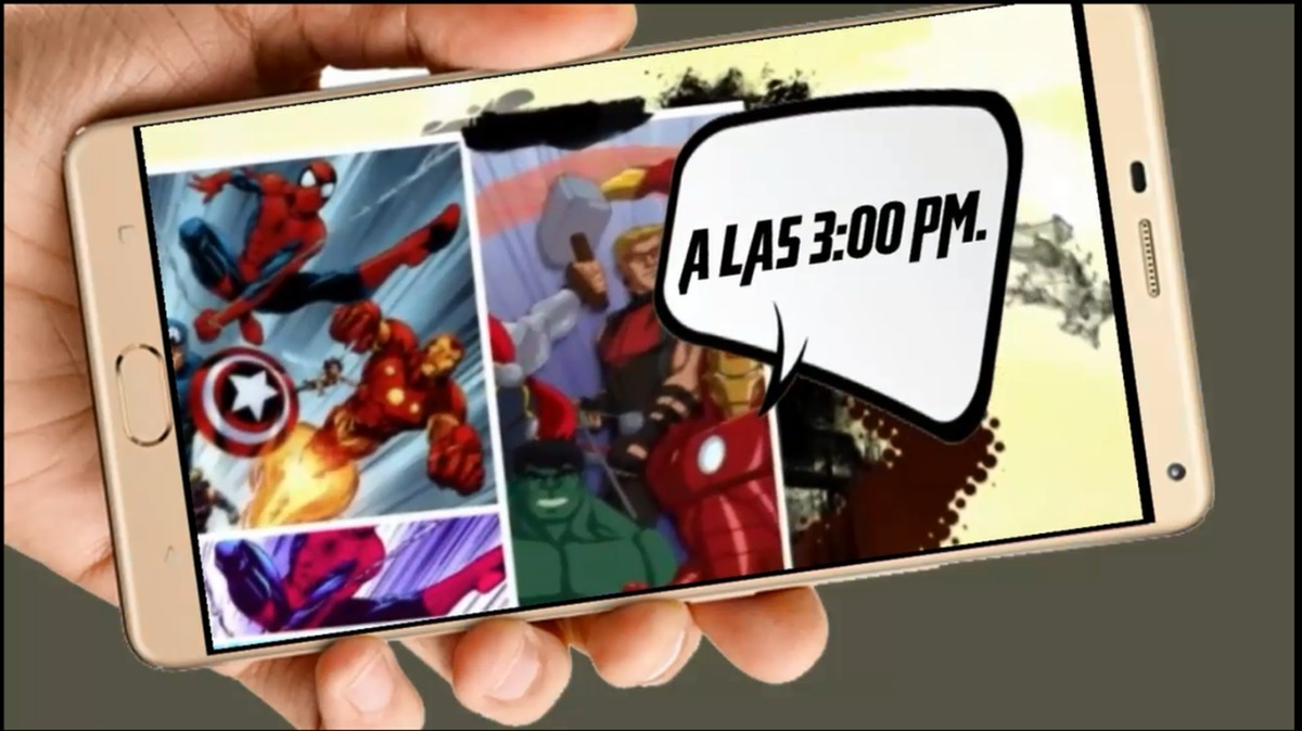 The Avengers Vídeo Tarjeta Invitación Digital Cumpleaños