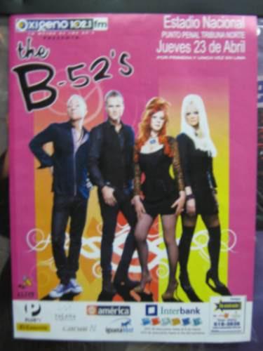 the b-52s poster presentacion en lima 2009