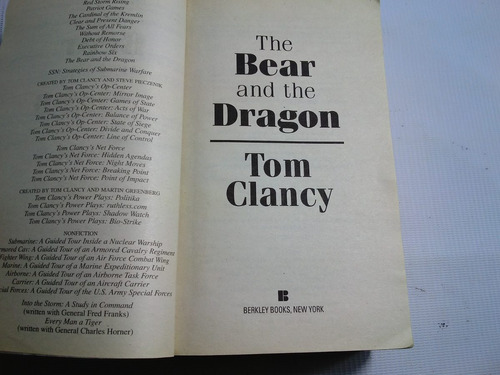 the bear and the dragon t. clancy's 2001